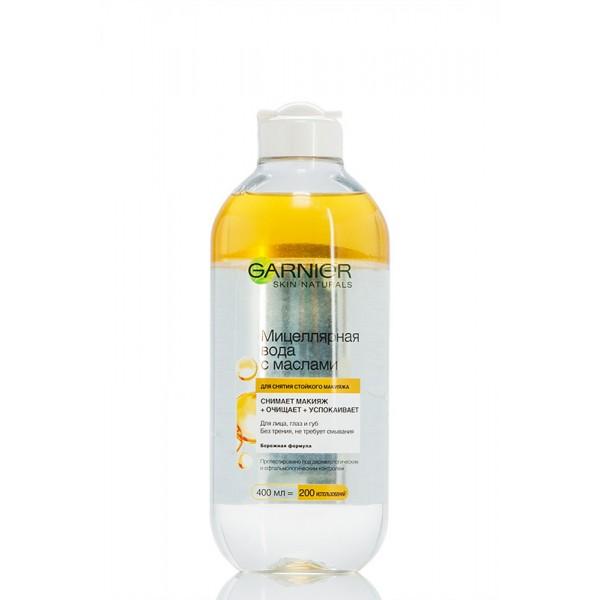 Garnier Демакіяж міцелярна вода з маслами для стійкого макіяжу 400 мл.