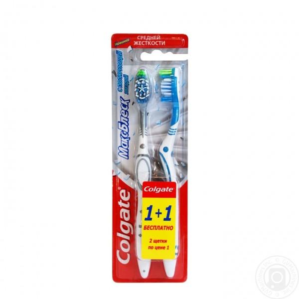 Colgate зубна щітка 1+1 макс блиск